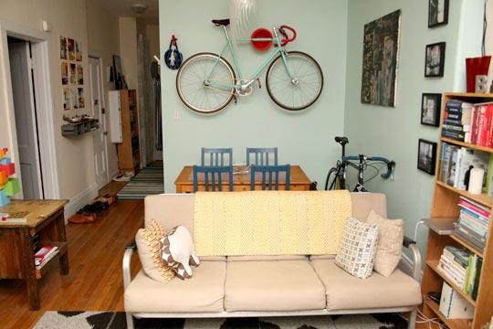 單車放置得當 融入居住空間