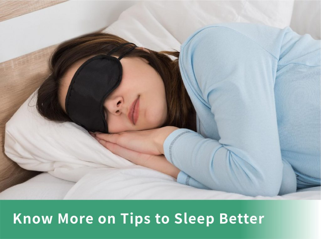 Know More on Tips to Sleep Better